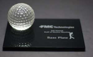 Golf Ball on Black Base
